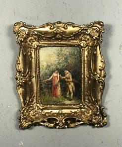 """Картина """"Прогулка в лесу"""" XIX века, Франция."""