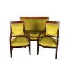Кресла и диван антикварные (гарнитур мягкой мебели) в стиле Ампир