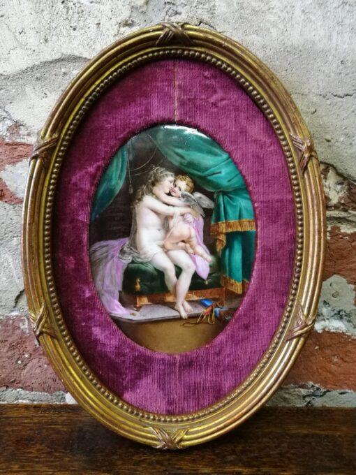Фарфоровый пласт или живопись на фарфоре XIX века.