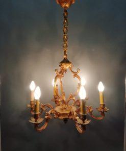 Бронзовая люстра с позолотой середины XX века Франция.