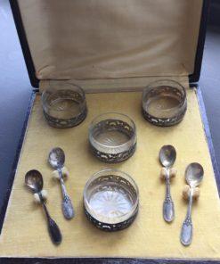 Набор из четырёх солонок XIX-XX вв, Франция