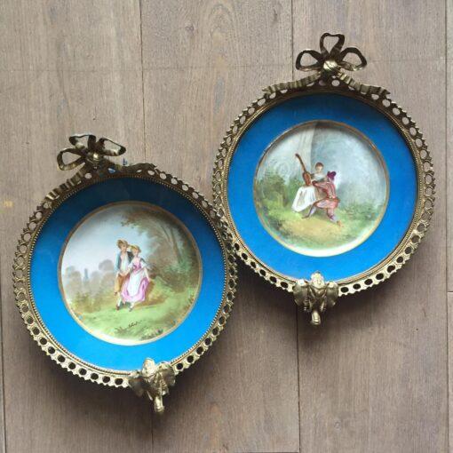 Парные декоративные тарелки, середина XIX века, Франция.⠀