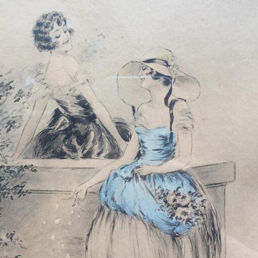 Пара литографий, начало XX века, Франция.