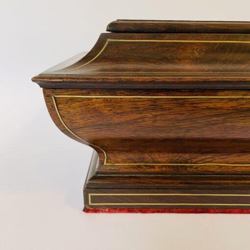 Шкатулка из палисандра с потайным дном, XIX в., Франция