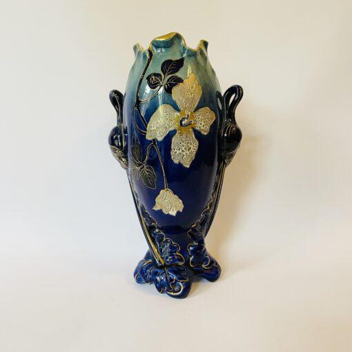 Ваза антикварная в стиле Ар Нуво начала XX века Франция, Luneville K&G.