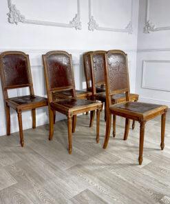 Гарнитур антикварных стульев 6 шт. Рубеж XIX-XX веков, Франция.