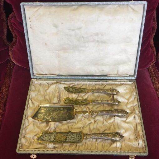 Набор десертных ножей, конец XIX века, Европа
