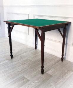 Антикварный ломберный складной столик начала ХХ века из Франции.