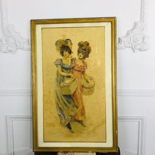 """БОЛЬШАЯ работа """"Барышни"""" 1900 г."""