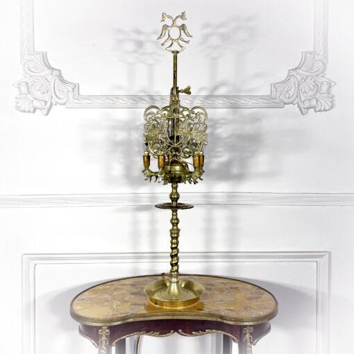 Высокая лампа на 4 лампочки первой половины XX века Европа.