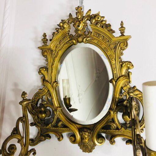 Парные бра с зеркалом. XIX век, Франция