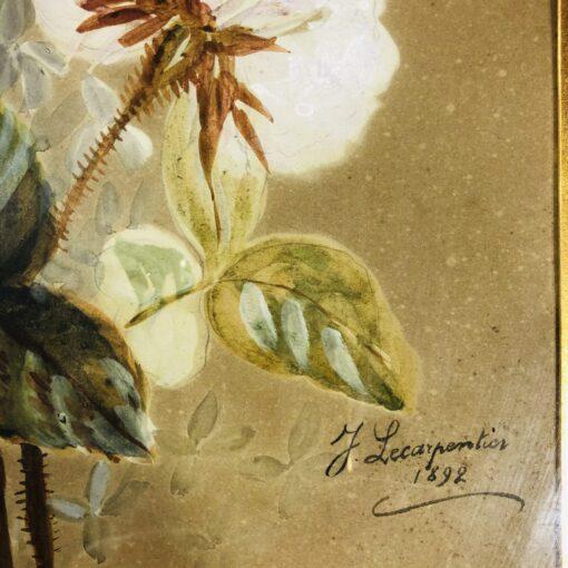 """""""Букет"""" акварель, J. Carpentier 1892 г"""
