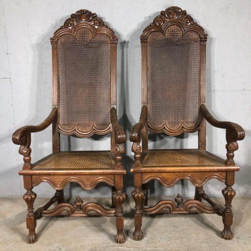 Кресла парные из ротанга начала XX века.