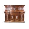 Редкий антикварный шкаф с мрамором 1883 года Лионской мануфактуры, Франция.