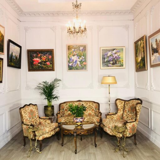 Кресла и диван (гарнитур мягкой мебели) XIX-XX века.