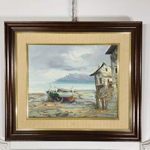 Пара работ «Средиземноморский пейзаж» второй половины XX века, Испания.
