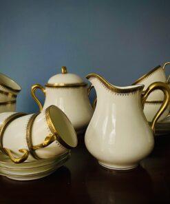 Чайно-кофейный антикварный сервиз XIX-XX века, Limoges.