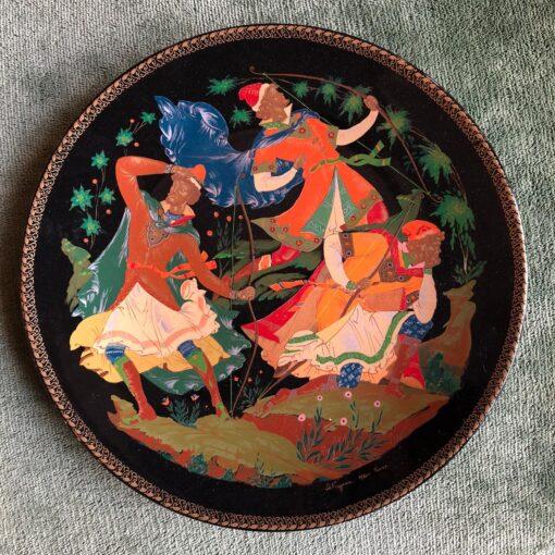 """8 коллекционных фарфоровых тарелочек серии """"The Tsarevich's Bride""""."""