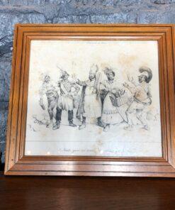 Гравюра конца XIX века, Франция.