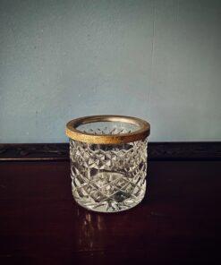 Хрустальная антикварная вазочка-чернильница 1960х годов.