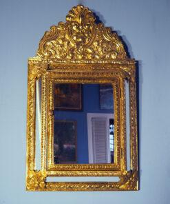 Латунная зеркальная ключница середины XX века, Франция.