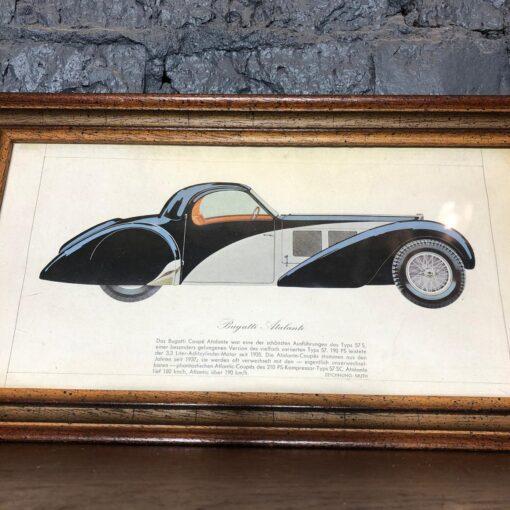 Литография модели Bugatti Atalante начала XX века, Германия.