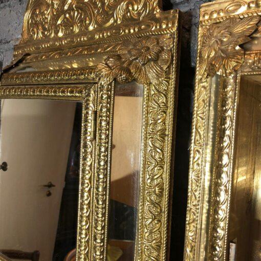 Пара латунных, зеркальных шкафчиков середины XX века, Франция.