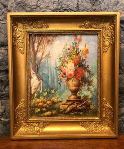 Натюрморт XIX-XX века, Франция. Масло, картон.