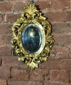 Бронзовое овальное зеркало середины XX века, Франция.