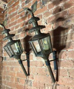 Большие Парные каретные фонари XIX века, Франция.