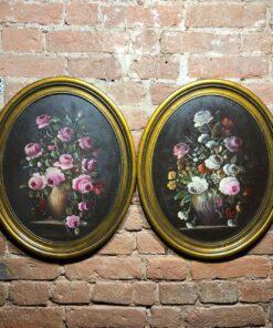 Парные натюрморты XIX-XX века, Франция. Масло, холст.