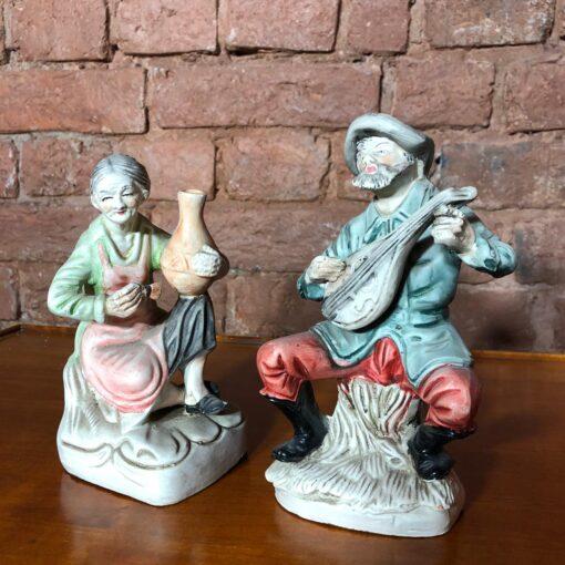 Парные керамические статуэтки начала XX века, Испания.