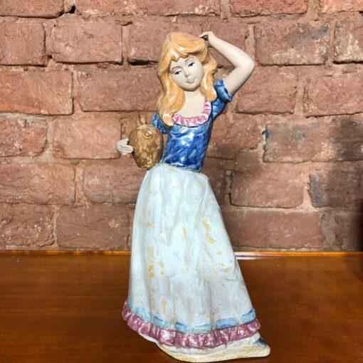 Керамическая статуэтка «Девушка с кувшином» 1960х годов, Испания.