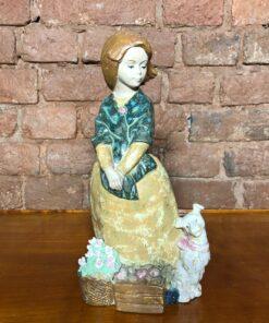 Керамическая статуэтка «Девочка с собачкой» 1960х годов, Испания.
