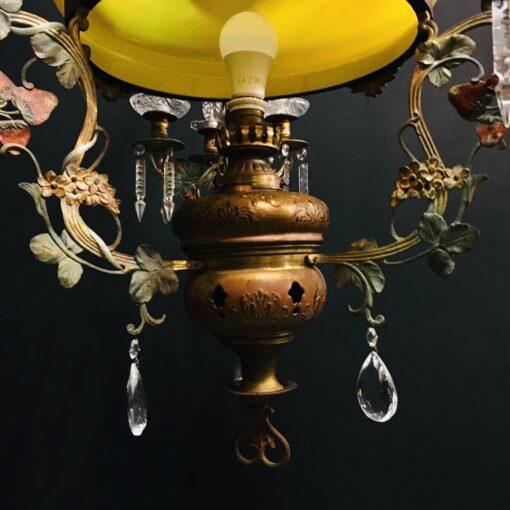 Люстра с желтым плафоном начала XX века, Франция