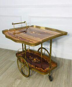 Сервировочный столик-тележка 1960 х годов, Италия.