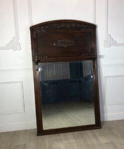 Большое, массивное зеркало начала XX века в стиле Ар-Деко с полочкой, Франция.