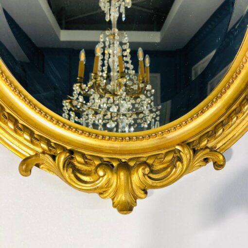 Зеркало овальное начала XX века, Франция.
