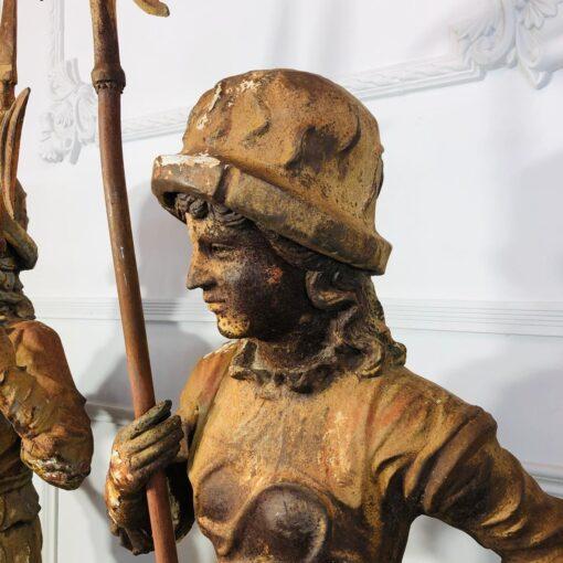 Парные скульптуры стражников конца XIX века, Франция.