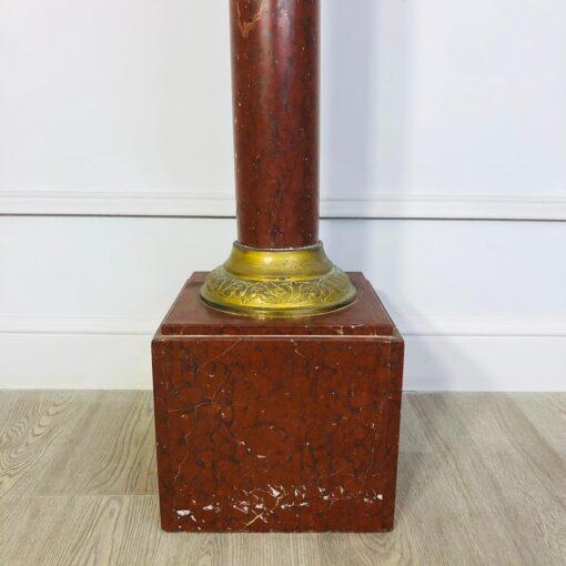 Терракотовая колонна-пьедестал начала XX века, Франция.