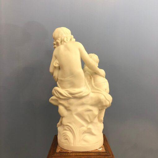 """Скульптура """"Первый урок"""" Limoges, начало XX века, Франция."""