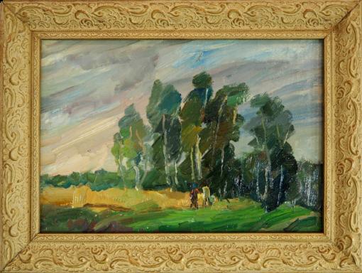 """Картина """"Ветренный день"""" И.А.Тимченко. 1987"""
