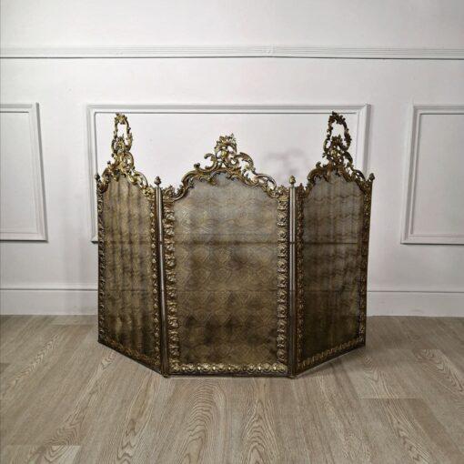 Каминный экран антикварный в стиле рококо из Франции. Начало ХХ века.