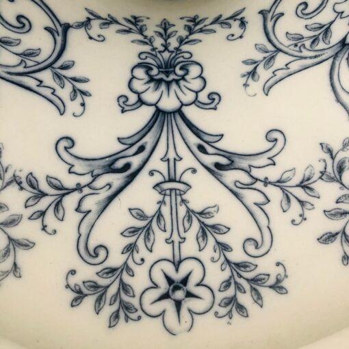 Викторианский унитаз ручной росписи, 1880-е годы, Британия