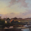"""Картина """"Оживленный пейзаж у озера"""". Шарль Дювенруа. 1839 год."""
