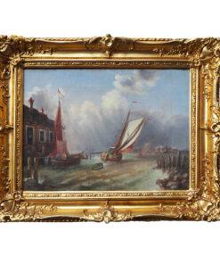 """Картина """"Венеция в грозу"""" Эдуарда Шмидта. 1850 год"""
