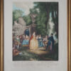 """Гравюра в раме """"Венецианский праздник"""" L. Watteau."""
