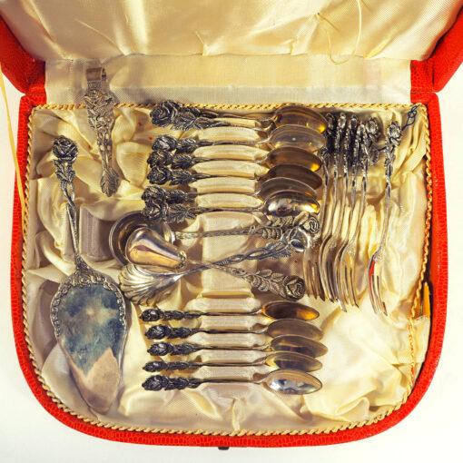 """Десертный набор серебра """"Pfeiffer Bestecke"""", Германия"""