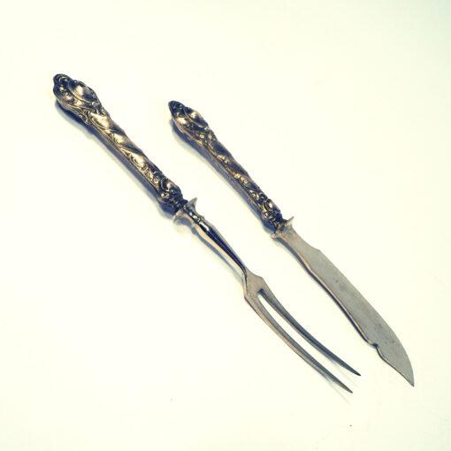 Набор для рыбы вилка и ножичек, первой половины XX века.
