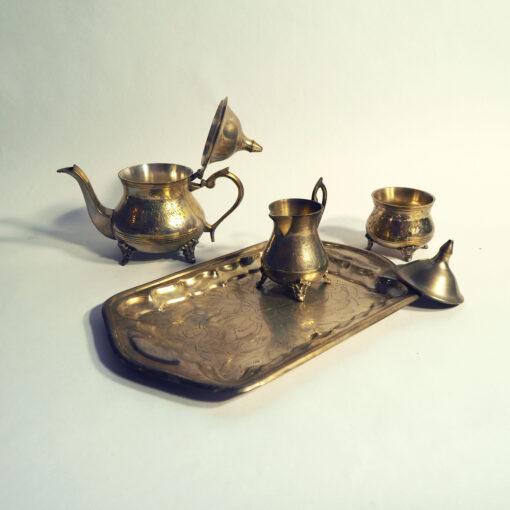 Набор для чая и кофе. Чайник, сахарница, молочник, конец XIX века, Франция
